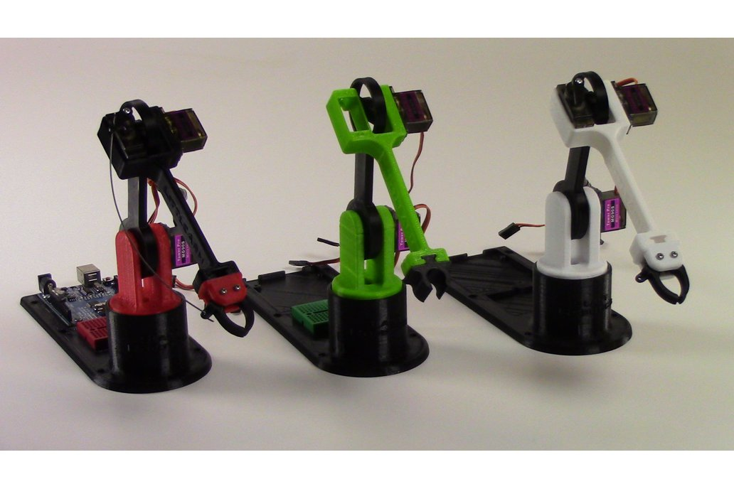 LittleArm: 3D Printed Trainable Arduino Robot Arm 7