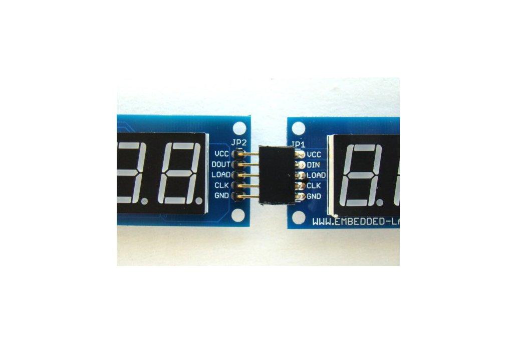 Serial 8-digit 7-segment LED display (Yellow) 4