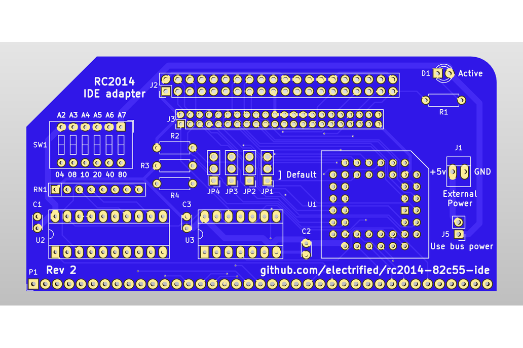 8255 based IDE disk drive interface for RC2014 6