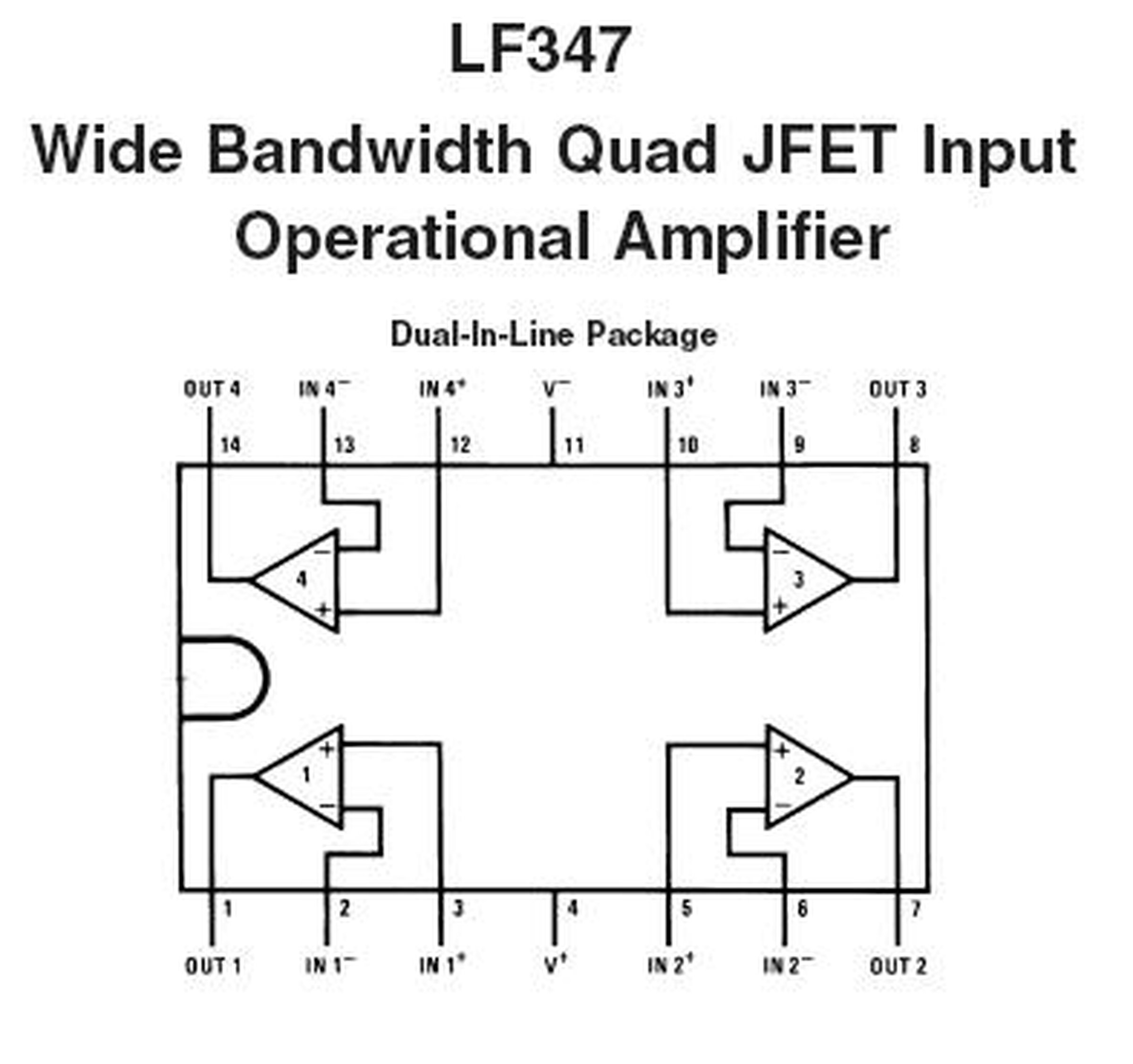 lf347 quad jfet op amp   1270  from nightfire electronics