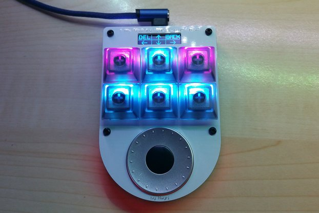 6 Key Macro Keypad with Rotary Encoder and Display