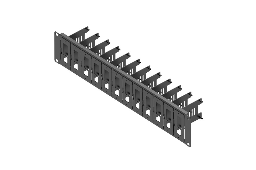 19-inch 2U Server Rack with 12 Pieces of Removable 1