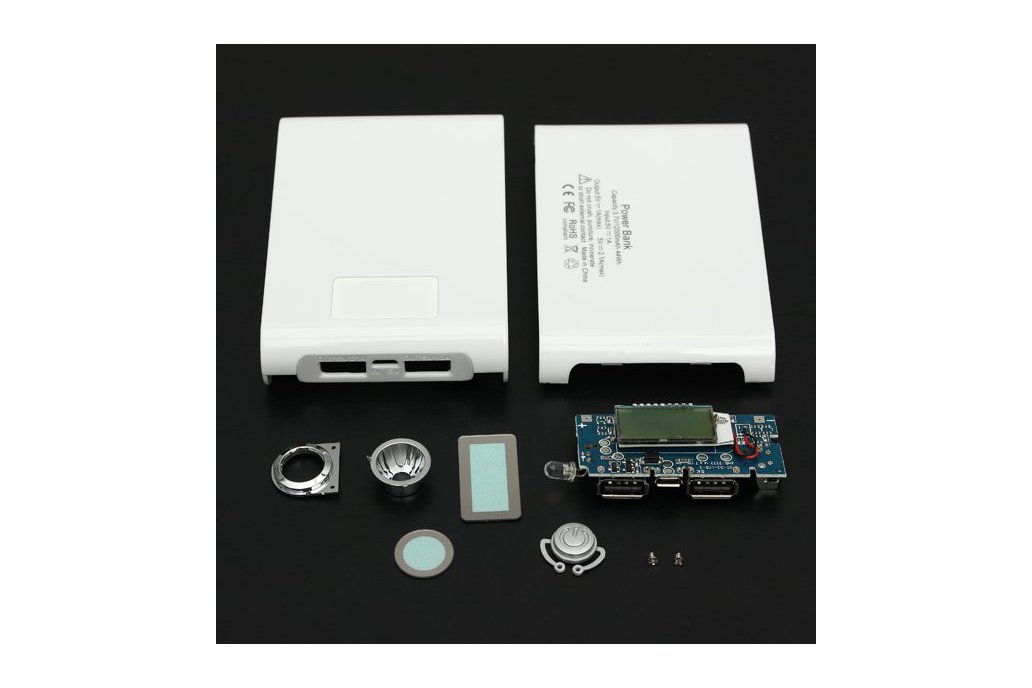DIY Kit Dual USB Power Bank Battery Charger Box 6