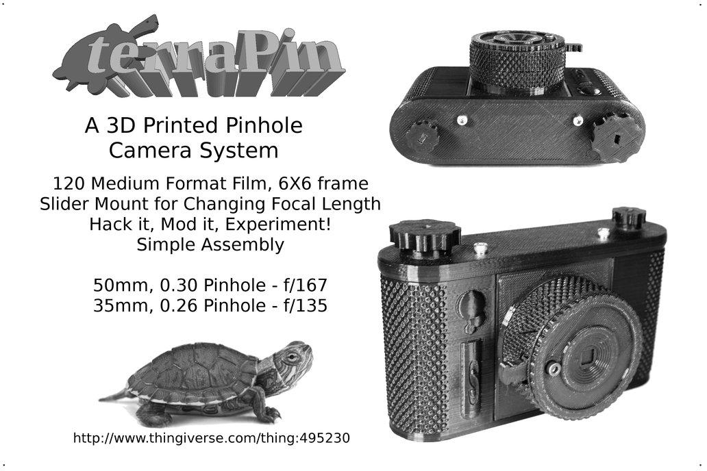 terraPin 3Dprinted Pinhole Camera (6X6 format)  1
