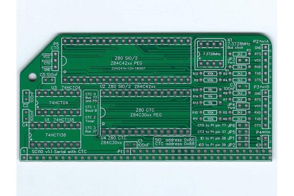 SC110 Z80 SIO/2 & CTC Board for RC2014 1
