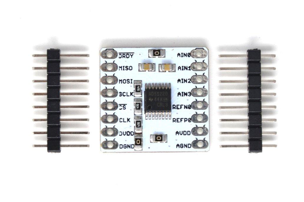 ADS1220 24-bit, 4-channel Low noise breakout board 3