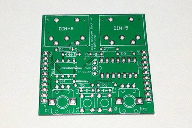 MIDI Booster Pack PCB