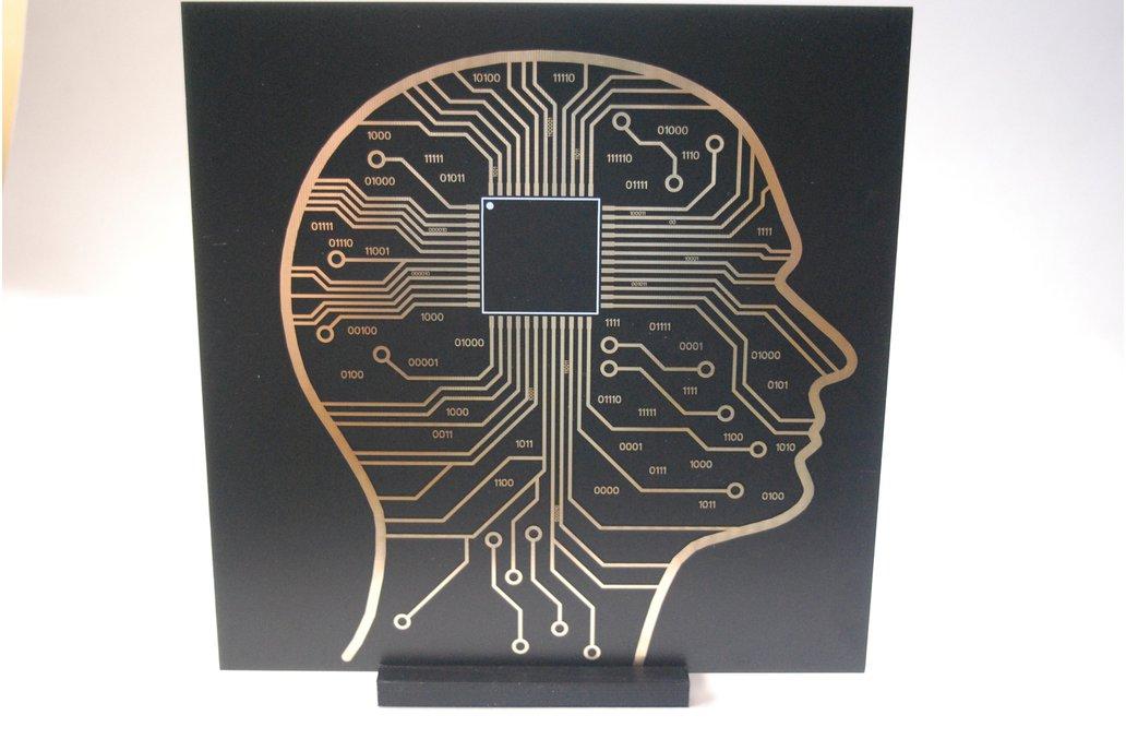 Micro Chip Brain / Black Hole PCB art version 2.0 1