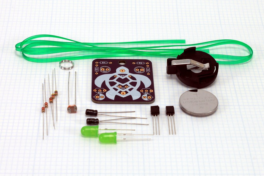 Turtle: Wearable Blinky-Board Soldering Skills Kit 2