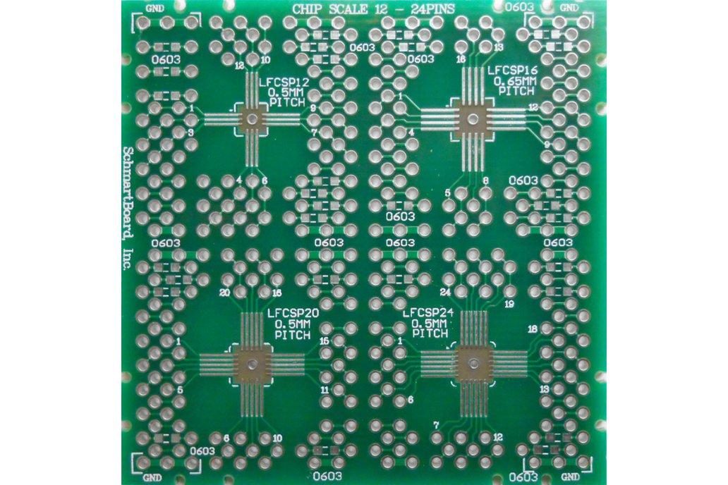 SchmartBoard|ez QFN/DFN 12-24 Pin .5mm & .65mm PCB 1