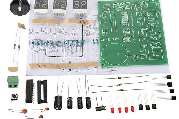 Digital LED Electronic Clock DIY Kit