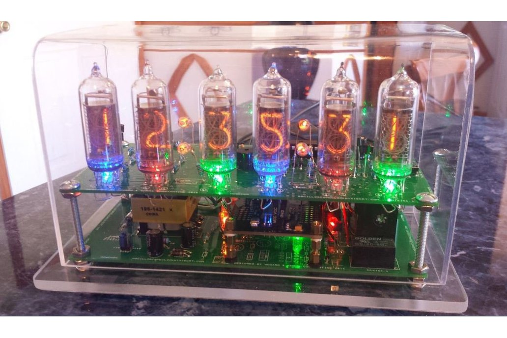 Six Digit Nixie Clock with IN-14 nixie tubes 1