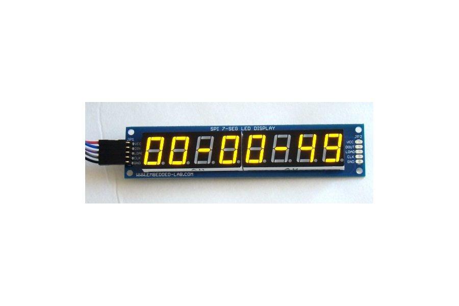 PCB for serial 7 segment LED display