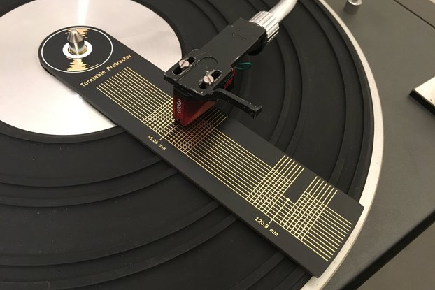 Turntable Protractor - Cartridge Stylus Alignment