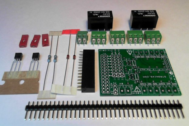 Raspberry PIIO - 2ch Relay add-on board - Kit only