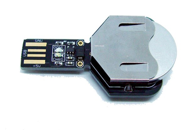 USB coin cell battery charger LIR2450 and LIR2032