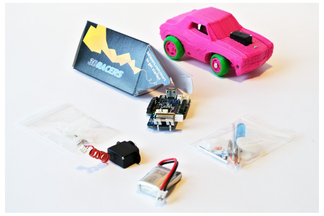 3DRacers - 3D Printed RC Car Kit - BLE + Arduino 1