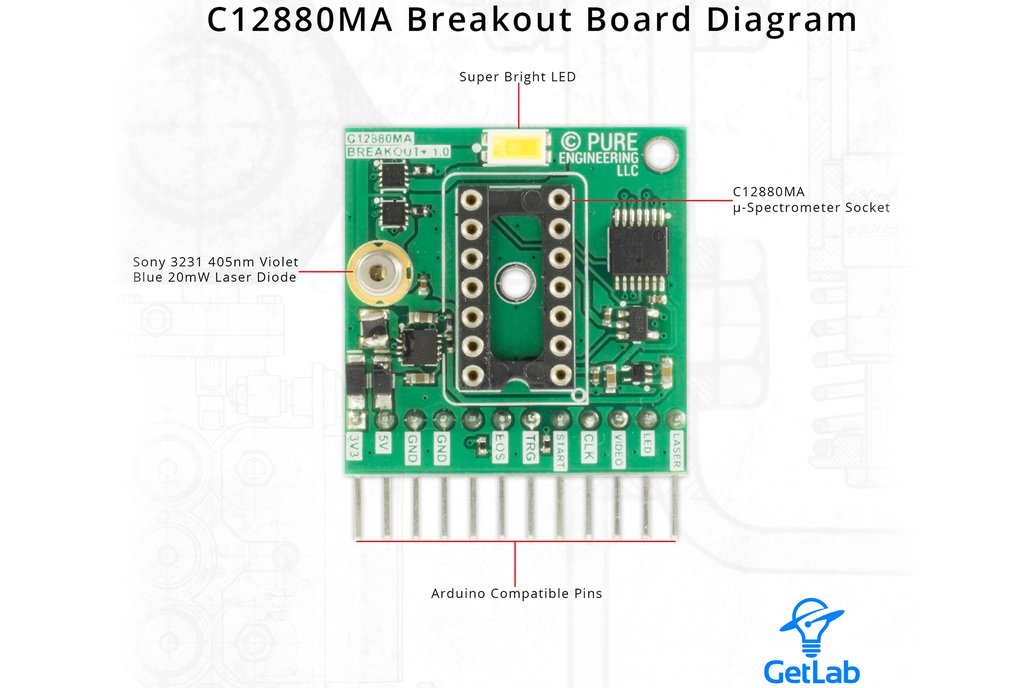C12880MA MEMS u-Spectrometer and Breakout Board 3