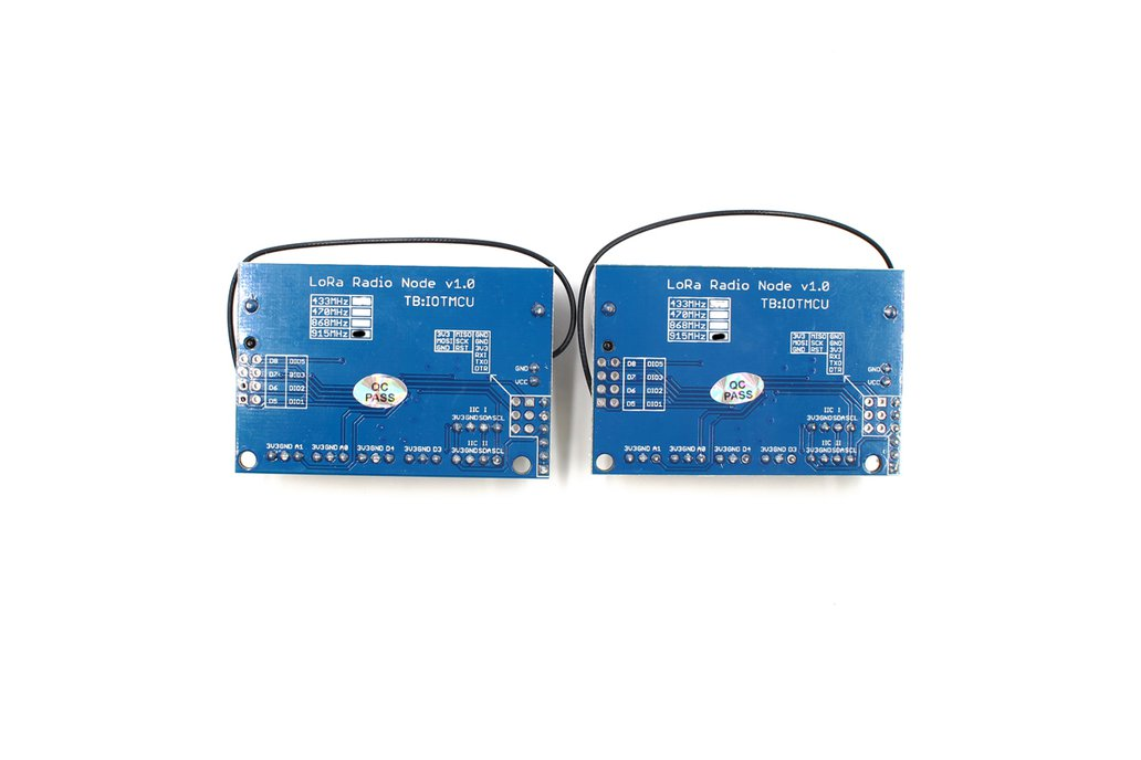 2PCS LoRa Radio Node v1.0 868/915MHz 2
