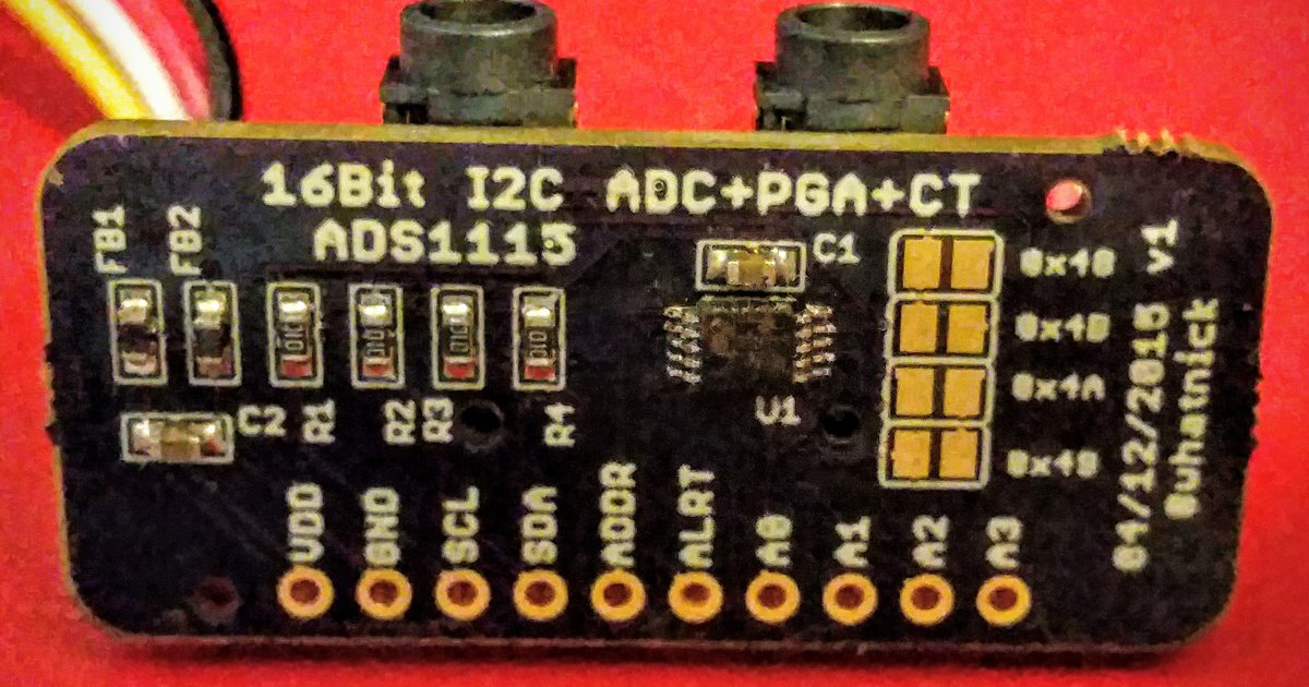 ADS1115 Module with CT/Grove Connectors by Whatnick INC on Tindie