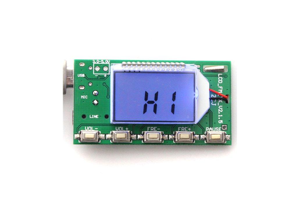 DSP PLL FM Transmitter Module - USB/Aux-In - 100mW 10