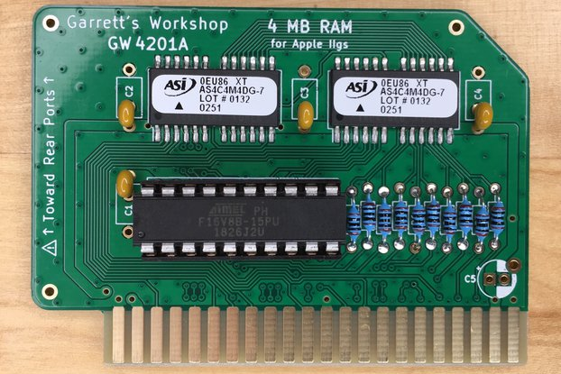 4 Mbyte RAM Expansion GW4201A for Apple IIgs