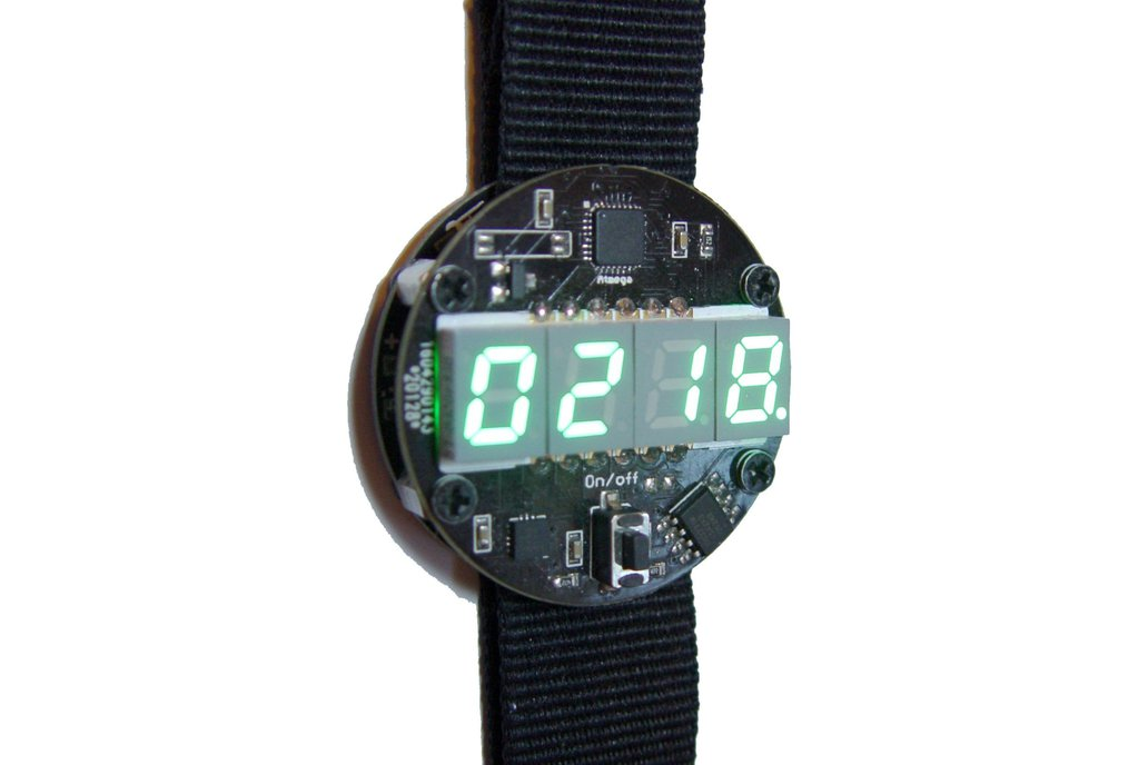 Motion activated LED watch 2
