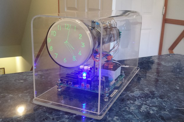 Oscilloscope Clock 3EP1 round Cathode Ray Tube