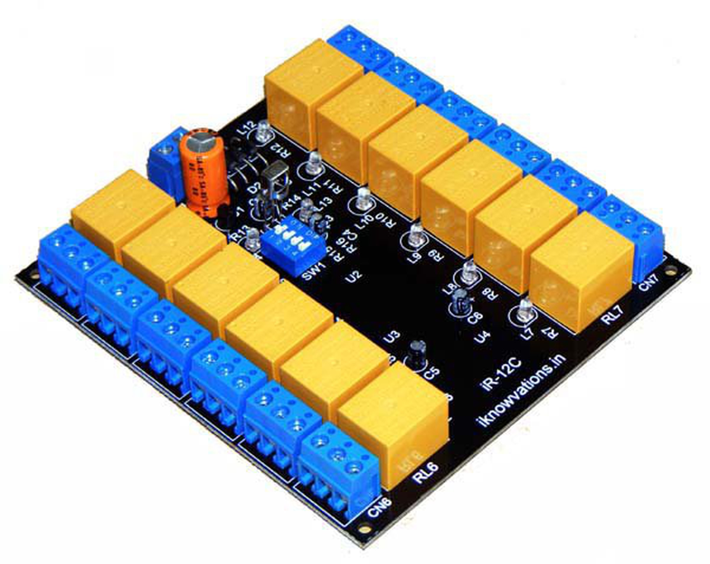 12 Ch Programmable Ir Remote Relay Card From Iknowvations On Tindie Infrared Control Sale Channel Board 12c