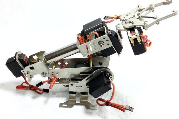 Stainless Steel 6 DoF Metal Robot Arm