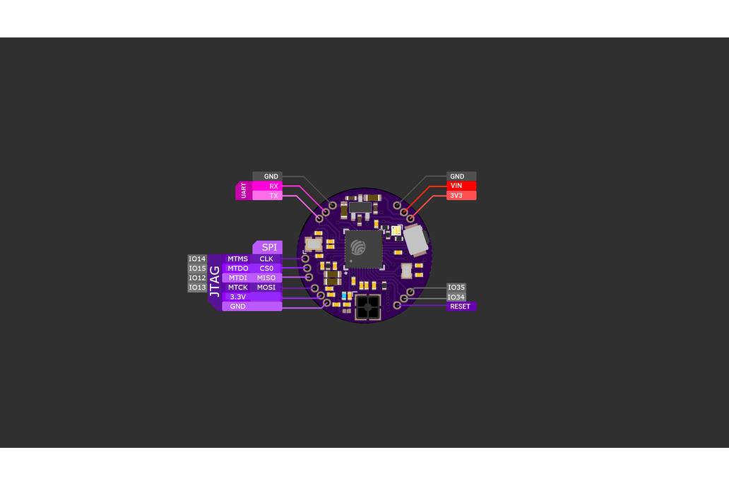 FemtoBeacon ESP32-D2WD (WiFi/Bluetooth Coin) 1