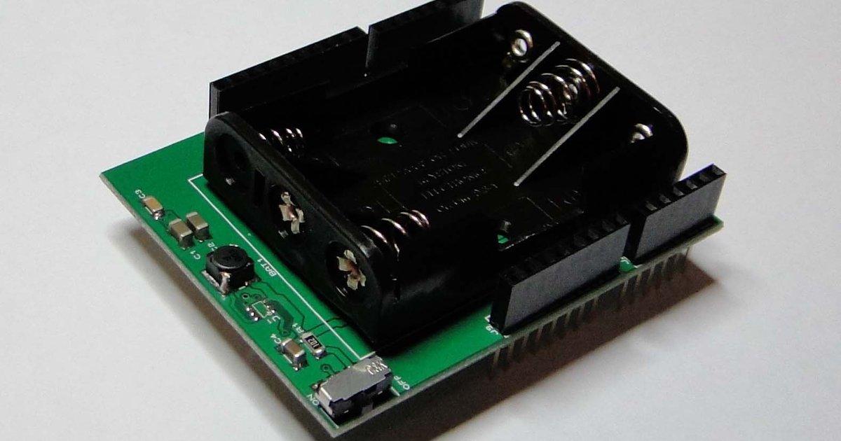 Batteryduino battery shield for arduino from senior