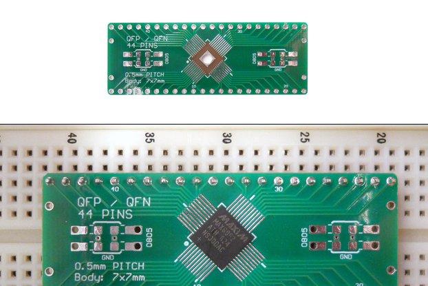 SchmartBoard|ez 0.5mm Pitch 44 Pin QFP/QFN to DIP adapter