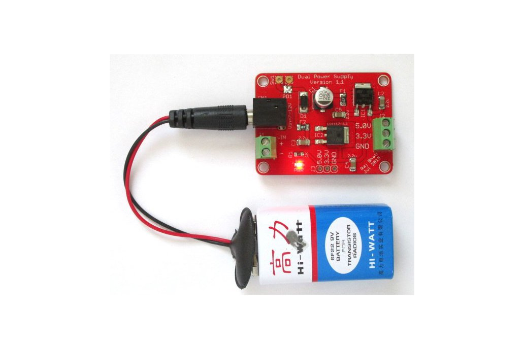 Dual regulated power supply (5.0V/3.3V) board 1