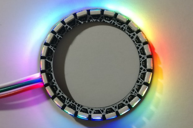 Outwards facing 24-LED ring