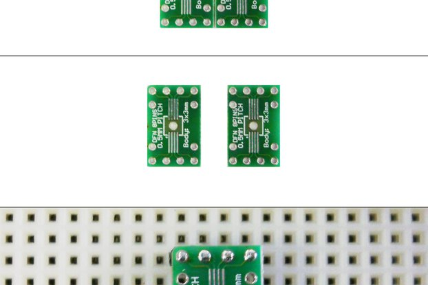 SchmartBoard|ez 0.5mm Pitch 8 Pin DFN to DIP adapter