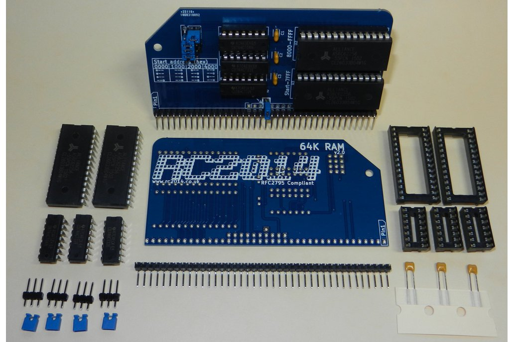 64K RAM Module For RC2014 - Z80 Homebrew Computer 1