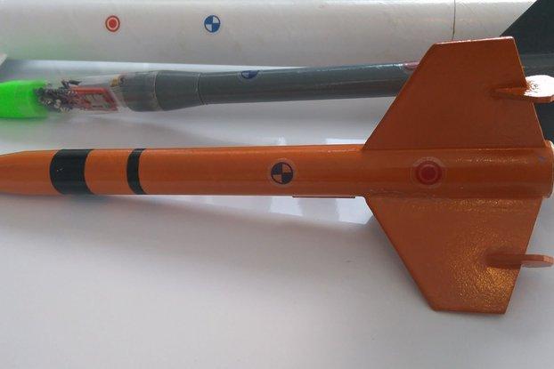 Model Rocket Centre of Gravity/Pressure Stickers