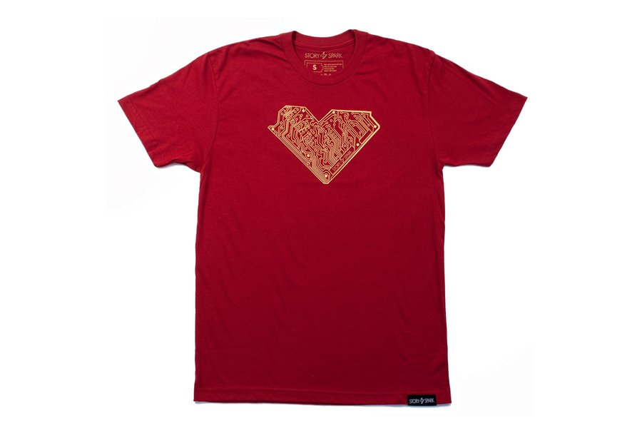 I HEART TECH - Mens Fashion Fitted Graphic T-Shirt