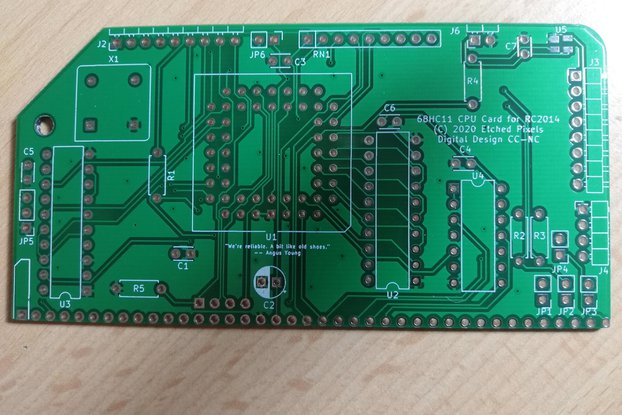 68HC11 CPU for RC2014™ PCB only