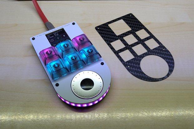 6 Key Macro Keypad with Rotary Encoder and Display