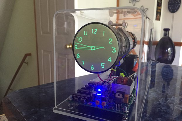 "Oscilloscope Clock 3"" Cathode Ray Tube"