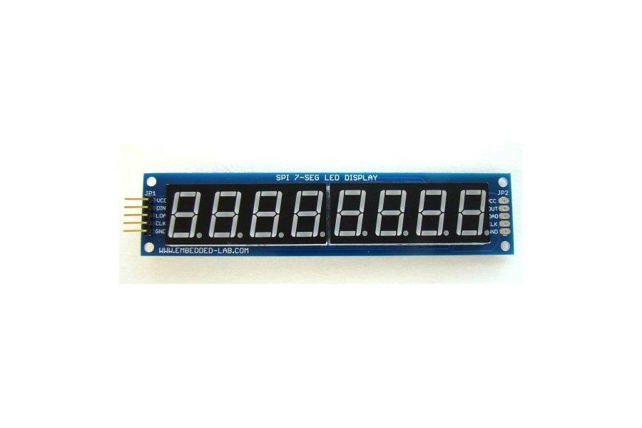 Serial 8-digit 7-segment LED display (Blue)