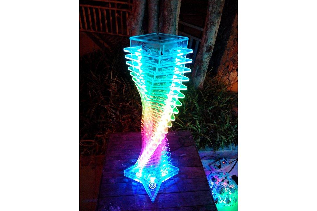 Interactive light effect tower 1
