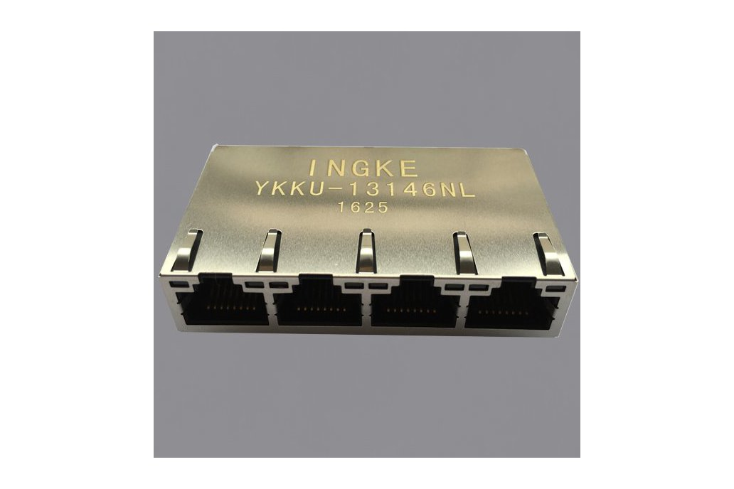 YKKU-13146NL 1x4 1000 BASE-T PoE Plus RJ45 Jacks 1