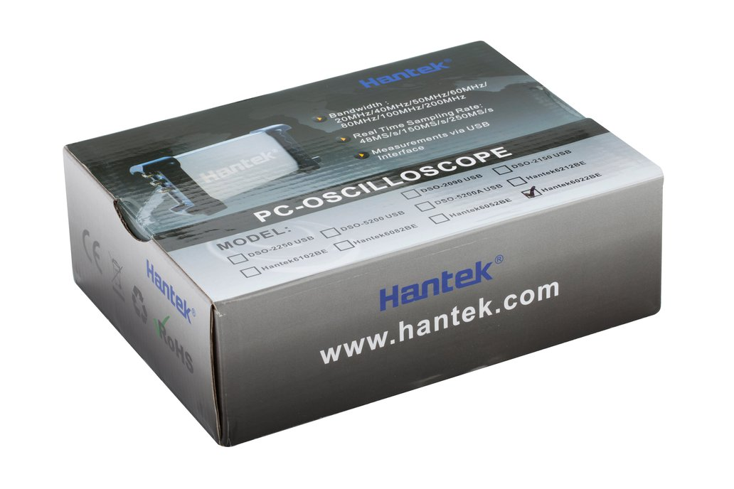 Hantek 6022BE Dual Channel USB Oscilloscope 5