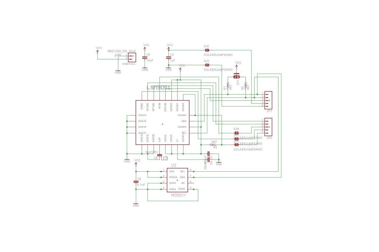 LSM9DS1+MS5611 breakout board