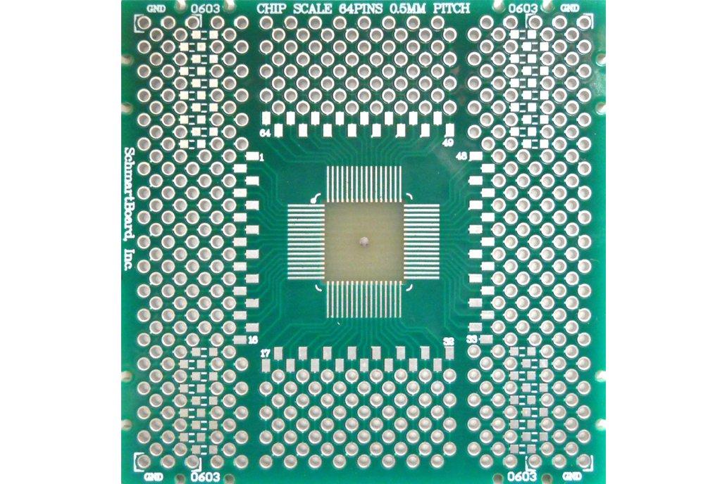 SchmartBoard|ez QFN/DFN 64 Pins 0.5mm Pitch PCB 1