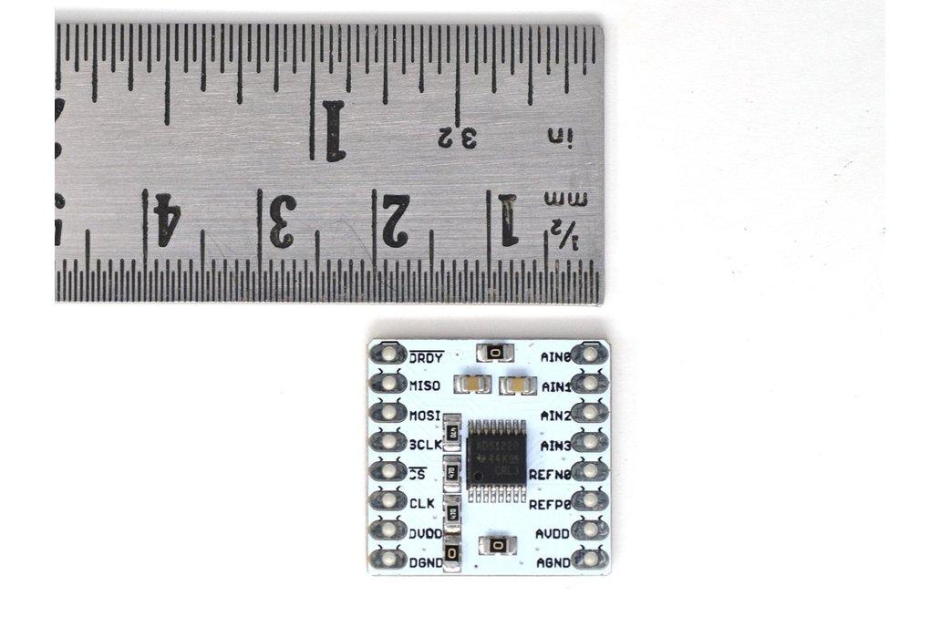 ADS1220 24-bit, 4-channel Low noise breakout board 2