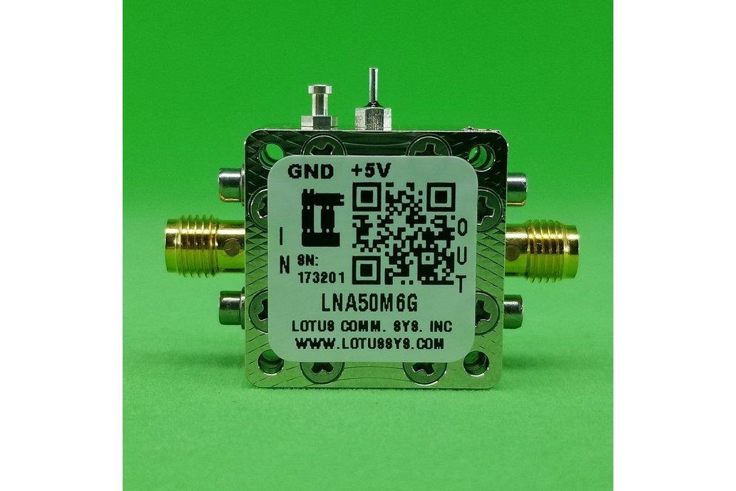 Amplifier LNA 0.65dB NF 50MHz to 6GHz 1